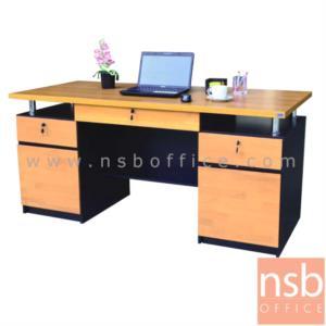 โต๊ะทำงาน  ผิวพีวีซี  3 ลิ้นชัก ขนาด 160W cm.  :<p>ขนาด 160W*75D*75H cm. &nbsp;3 ลิ้นชัก 3 กุญแจล็อค 2 บานเปิด&nbsp; / หน้าลิ้นชักพ่นสีไฮกรอส / ผลิต 2 สี เชอร์รี่/ดำ , โอ๊ค/ขาว</p>
