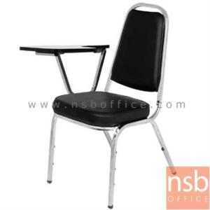 เก้าอี้เลคเชอร์ ที่นั่งเบาะ หน้าโฟเมก้า CL-400 (ซ้อนเก็บได้):<p>ผลิต 2 รุ่นคือ ขาพ่นดำ และขาชุบโครเมี่ยม / ที่นั่งเบาะหนา ระบุสีได้ / แผ่นเลคเชอร์บุโฟเมก้าสีขาว ปิดขอบด้วย PVC สีดำ</p>