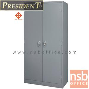 ตู้เหล็ก 2 บานเปิดทึบสูง 183 ซม. เพรสสิเด้นท์ รุ่น LK-22 มือจับบิด มี มอก. (PRESIDENT):<p>ขนาด 91.4W*45.8D*183H cm. &nbsp;หน้าบานเป็นบานเปิดทึบ มีกุญแจล็อค มือจับบิด(เขาควาย) ภายในมี 3 แผ่นชั้นสามารถปรับระดับได้ โครงตู้ทำจากเหล็กอย่างดี ได้รับการรับรองมาตรฐานอุตสาหกรรม(มอก.)&nbsp; ผลิตเฉพาะสีเทาเข้มล้วน(G1)</p>