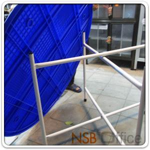 โต๊ะพับจีน หน้าพลาสติกกลมสีน้ำเงิน ขาเหล็กสีขาว 4 ฟุต (Di120*73H cm.):<p>ขนาด Di120*73H cm. หน้าโต๊ะผลิตจากพลาสติกหนาพิเศษ โครงขาเหล็กพ่นขาว แข็งแรง สามารถรับน้ำหนักได้มาก ผลิตสีน้ำเงิน</p>