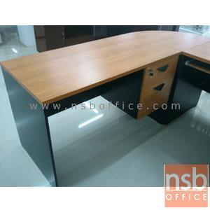 โต๊ะทำงานตัวแอล VENUS 180W1*140W2 cm เมลามีน (ตัวมุมมีแผ่นชั้นกลาง):<p>3 ชิ้น ประกอบด้วย โต๊ะทำงาน 2 ลิ้นชัก 120W*60D*75H cm / ชั้นเข้ามุมโค้ง R60*H75 cm / และโต๊ะคอมพิวเตอร์ 80W*60D*75H cm / ผิวเมลามีน ทนร้อน ทนชื้น / ใช้พื้นที่รวม 180W*140D*75H cm&nbsp;</p>