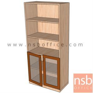 ตู้เอกสารสูง 5 ชั้น บนโล่ง ล่างบานเปิดกระจก 180H, 200H cm. เมลามีน:<p>ผลิต 3 ขนาดคือ 80W*40D*200H cm., 90W*40D*200H cm. (วางแฟ้มได้ 5 ช่อง) และ 90W*40D*180H cm&nbsp;(วางแฟ้มได้ 4 ช่องครึ่ง) &nbsp;/ ปิดผิวเมลามีน กันชื้น กันร้อน</p>