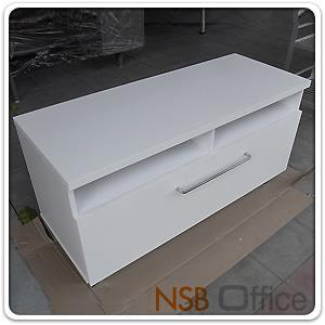 ตู้ไซค์บอร์ด วางทีวี ขาเหล็ก 5 ขา 100W*40D*52.5H cm.:<p>ผลิต 2 สีคือสีขาว และสีขาว/โอ๊ค</p>