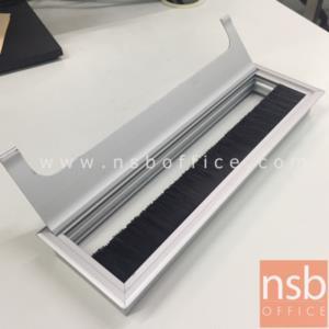 ฝาป็อบอัพอลูมิเนียมฝังหน้าโต๊ะ รุ่น 7211:<p>เจาะ top ขนาด 27W*7D cm.</p>