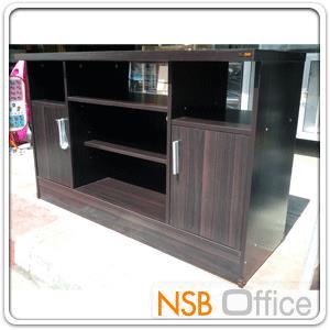 ตู้ไม้วางทีวี 120W*45D*76H cm.  :<p>ผลิตจากไม้ปาร์ติเกิลบอร์ด</p>