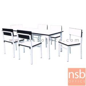 ชุดโต๊ะและเก้าอี้กิจกรรมอนุบาล ขาเหลี่ยม:<p>ขนาดโต๊ะกว้าง 120 ซม. ลึก 60 ซม. สูง 50 ซม. ที่นั่งกว้าง 30 ซม. ลึก 33 ซม. สูง 60 ซม. / โครงเหล็กขาวที่นั่งและแผ่นเล็คเชอร์ผลิตจากโฟเมก้า ผลิต สีขาว สีเขียว สีฟ้า และสีชมพู</p>