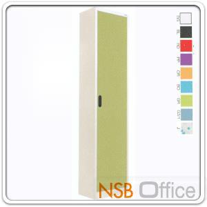 """ตู้เอกสาร 1 บานเปิดทึบสูง 200 ซม.คีออส KIOSK-MAX 014:<p>ขนาด ก46.6*ล30*ส200 ซม./ภายในมี 5 แผ่นชั้นสามารถปรับระดับได้ ซึ่งสามารถรับน้ำหนักได้ชั้นละ 50 กก./</p> <p>ผลิต 9 สีคือ สีขาวมุก, สีดำ, สีแดง, สีม่วง, สีส้ม, สีฟ้า, สีเขียว, สีเทาฟ้า และลายกราฟฟิค</p> <p><strong><span style=""""text-decoration: underline;"""">*กรณีเจาะยึดผนังเพิ่มใบละ 200 บาท (เฉพาะผนังปูนเท่านั้น)**</span></strong></p>"""