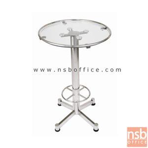 โต๊ะอาหารสแตนเลส หน้ากระจก รุ่น QTS-108:<p>ขนาด 63Di(รวมขอบโต๊ะ)*100H เส้นผ่านศูนย์กลางของขา 76 มม.และกระจกเจียรปลี หนา 10 มม. ขาโต๊ะเป็นสแตนเลสล้วน</p>