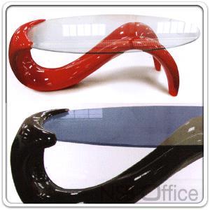 โต๊ะกลางกระจกใสวงรี 120W cm. ENTRY โครงพลาสติกไฟเบอร์:<p>ขนาด 120W*60D*45H cm. หน้ากระจกนิรภัยหนา 10 มม./มี 3 สี คือ ขาว,แดง,ดำ</p>