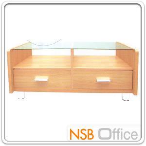 โต๊ะกลางกระจกใส โครงไม้ 2 ลิ้นชักล่าง 103W*60D*43H cm. สีโอ๊ค 1 ตัว:<p>โครงไม้ปาร์ติเกิลบอร์ด มีสต๊อก สีโอ๊ค 1 ตัว</p>
