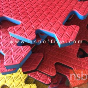 แผ่นโฟมห้องสันทนาการ ขนาด 100W*100D cm. ขอบจิกซอว์:<p>กว้าง 100 ซม สูง 1 ซม. ขอบเป็นแบบจิ๊กซอว์ สำหรับล็อคกับแผ่น ถัดไป ผลิตสี 6 สี สีแดง สีเหลือง สีเขียวเข้ม สีเขียวอ่อน สีน้ำเงิน สีกรมท่า&nbsp;</p>