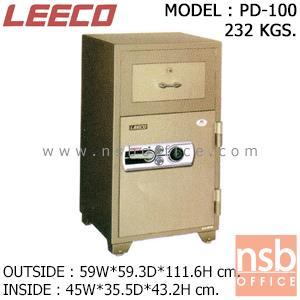 ตู้เซฟแคชเชียร์ 232 กก. ลีโก้ รุ่น LEECO-PD-100 มี 2 กุญแจ 1 รหัส (เปลี่ยนรหัสได้):<p>ตู้นิรภัย 2 กุญแจ 1 รหัส แบบมีลิ้นชักบน/ล่างบานเปิด เหมาะสำหรับร้านค้าและกิจการทั่วไป ตู้ประกอบด้วยด้านบนมีลิ้นชักพร้อมกุญแจล็อค สามารถบรรจุสิ่งของเข้าไปในตู้โดยไม่ต้องเปิดประตูออก /ด้านล่างมีบานเปิด ภายในมีลิ้นชักพร้อมกุญแจล็อค /ตู้เซฟผลิตจากเหล็กกล้าชนิดพิเศษ ทนต่อการกัดกร่อนและป้องกันการเกิดสนิม สีที่ใช้พ่นตู้นิรภัยคือ สีอะคริลิกแฮมเมอร์ (ACRYLIC HAMMER) สามารถกันไฟได้นาน 2 ชั่วโมง **ตัวหมุนรหัสสีดำ สามารถเปลี่ยนรหัสได้**</p>
