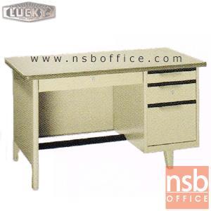 โต๊ะทำงานเหล็กหน้าโฟเมก้า 4 ลิ้นชัก  (ผลิต 3 , 3.5 และ 4ฟุต)  :<p>ผลิต 3 ขนาดคือ ผลิต 3 , 3.5 และ 4ฟุต ตัวโต๊ะเป็นสีครีมล้วน หน้า TOP สีเขียวเทา ลามิเนต(PP 5343 UN) / มีกุญแจล็อคและที่พักเท้าด้านล่าง</p>