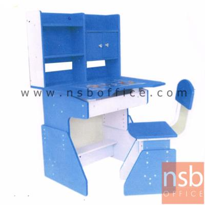 ชุดโต๊ะเขียนหนังสือพร้อมเก้าอี้เด็ก (ยกเลิก):<p>โต๊ะเขียนหนังสือ ที่เก็บของเอนกประสงค์ และเก้าอี้</p>