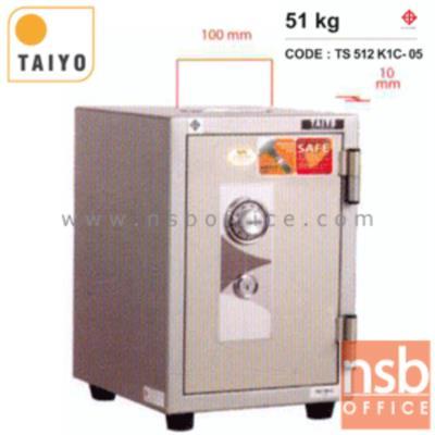 ตู้เซฟบริจาค TAIYO TS512K1C-05 มอก. 51 กก. 1 กุญแจ 1 รหัส (เจาะช่องรับบริจาค 10 cm ด้านบน):<p>TAIYO TS512K1C / มาตรฐาน ม.อ.ก. / ภายนอก 345(W)*395(D)*515(H) mm ภายใน 213(W)*272(D)*348(H) mm / เปลี่ยนรหัสไม่ได้ / มีช่องรับบริจาคใส่เงินด้านบน เหมาะสำหรับศาสนสถานและองค์กรสาธารณะ</p>