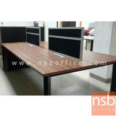 """โต๊ะทำงานกลุ่ม รุ่น PS-SWB42 :<p>ขนาด 240W*120W*115H cm. &nbsp;โต๊ะขาเหล็กพ่นดำ / TOP ปิดผิวเมลามีนทนความร้อนและรอยขีดข่วน /&nbsp;&nbsp;อุปกรณ์เสริมโต๊ะทำงานกลุ่ม ถาดวางเอกสาร<a href=""""http://www.nsboffice.com/productdetail-gid-11945.aspx"""">&nbsp;A33A024</a>&nbsp;, กล่องรางรายสายไฟ&nbsp;<a href=""""http://www.nsboffice.com/productdetail-gid-11946.aspx"""">A33A025</a>&nbsp;, รางร้อยสายไฟแบบตั้ง&nbsp;<a href=""""http://www.nsboffice.com/productdetail-gid-11947.aspx"""">A33A026</a></p>"""