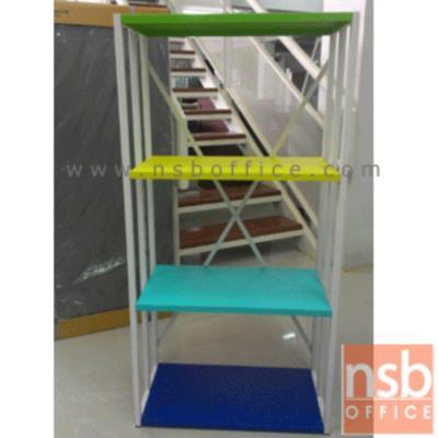 ชั้นเหล็ก 3 ชั้น รุ่น IM-BH-STOM1 แผ่นชั้นสีสัน (สลับสีได้):<p>60W*30D*121H cm. โครงทำจากเหล็กพ่นสี แผ่นชั้นทำสีสัน สามารถสลับตำแหน่งได้(ปรับระดับไม่ได้) ด้านข้างและด้านหลังมีเหล็กพาดกันของตก /แผ่นชั้นมี 4 สีคือสีฟ้า, สีเหลือง สีเขียว และสีน้ำเงิน (คละสี)</p>