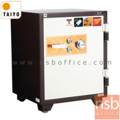 ตู้เซฟ TAIYO รุ่น 150 กก. 2 กุญแจ 1 รหัส (TS760K2C-30):<p>TAIYO TS760K2C-30&nbsp; มาตรฐาน ม.อ.ก. / ภายนอก 590(W)*551(D)*760(H) mm. ภายใน 450(W)*355(D)*547(H) mm. / ภายในมี 1ลิ้นชักพร้อม 1 ลิ้นชักซ่อน และมีโคมไฟ /กันไฟนาน 2 ชั่วโมง ผลิตสีพิเศษน้ำตาลแดง-ขาว (RBW)</p>