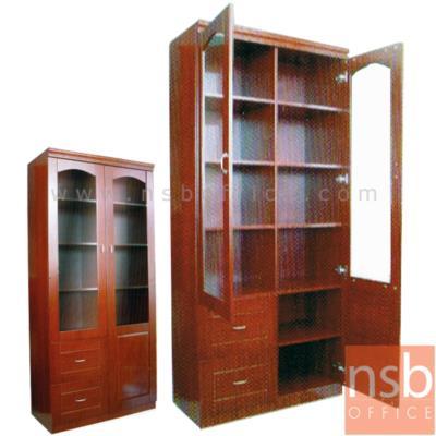 ตู้เก็บเอกสารสูง 200 ซม.  รุ่น DIM-530D มี 2 ลิ้นชักล่าง:<p>ขนาด 90W*43D*200H cm. โครงตู้ผลิตไม้ MDF เคลือบสีสัก / มี 2 บานเปิดบนกระจก ล่าง 2 ลิ้นชักซ้าย&nbsp;</p>