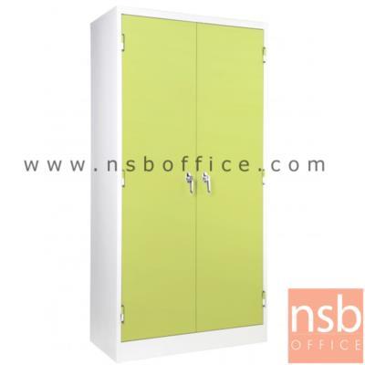 ตู้ 2 บานเปิด มือจับเขาควาย:<p>ขนาด 914(W)*457(D)*1829(H) mm. / Keylock /ผลิต8 สี&nbsp;</p>