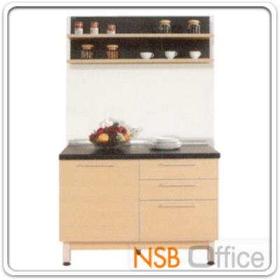 ชุดตู้ครัว 120W cm. รุ่น SR-STEP-02 (สำหรับครัวแห้ง):<p>ขนาดรวม 120W*60D*200H cm. /2 ชิ้น ประกอบด้วยตู้เคาน์เตอร์ 120 ซม. 1 ชิ้น และชั้นแขวนผนัง 2 ชั้น 120 ซม. จำนวน 2 ชิ้น /โครงตู้ปิดผิวด้วยเมลามีน ชนิดพิเศษทนความร้อนสูง ทนต่อรอยขีดข่วน และกรด ด่าง / บานพับปิดนุ่มนวล&nbsp;</p>
