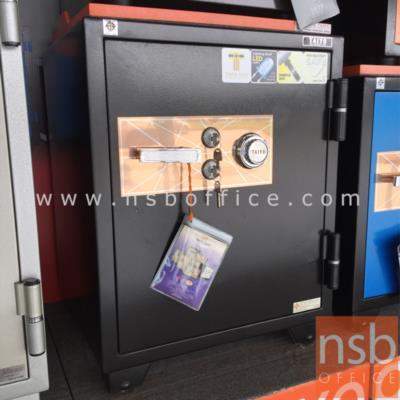 ตู้เซฟ TAIYO 150 กก. 1 กุญแจ 1 รหัส (TS 760 K2C-30) สีดำ:<p>ขนาดภายนอก 59W*55.1D*76H cm. ขนาดภายใน 45W*35.5D*54.7H cm น้ำหนัก 150 กก. / ภายในมี 1 แผ่นชั้น 1 ลิ้นชัก / กันไฟนาน 2 ชั่วโมง / ผลิตสีดำ</p>