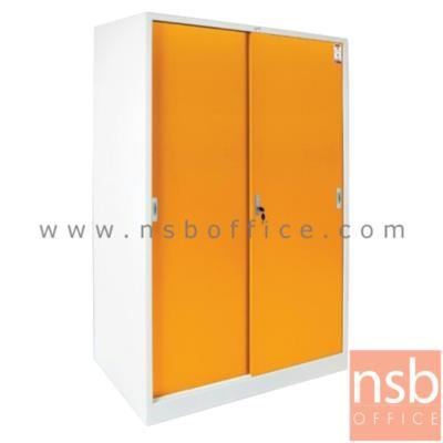 ตู้เสื้อผ้าเหล็ก บานเลื่อนทึบ (มีราวแขวนด้านใน) รุ่น WDSD-04:<p>ขนาด 118.7W*60D*183H cm.&nbsp;โครงตู้และบานประตู เหล็กหนา 0.6 มม. (ฝาบนหนา 0.7 มม.) / ราวแขวนเสื้อ อลูมิเนียมกลมหนา 1.2มม / ภายในมี 1แผ่นชั้นปรับระดับได้ / ประตูรางเลื่อน ระบบรางบน ลื่นไม่ติดขัด ทนทาน / ประตูบานเลื่อนมีมือจับและกุญแจล็อค</p>