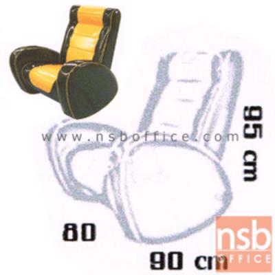 เก้าอี้โยก รุ่น BIG-VOSS   มีท้าวแขน พิงเอนได้:<p>ขนาด 80W*90D*95H cm. สามารถโยกเอนได้ ที่นั่งพนักพิงบุฟองน้ำหุ้มหนังเทียมชนิดพิเศษมันและเงา ทำความสะอาดง่าย</p>