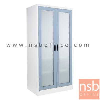 """ตู้เสื้อผ้าเหล็ก บานเปิดกระจกสูง 182H cm. KS-WGO-81 :<p>ขนาด 91.4W*56D*182.9H cm. / มีราวแขวน 1 ชุด แผ่นขั้น 2 แผ่นชั้น / ผลิต 9 สีคือ สีขาวมุก, สีดำ, สีแดง, สีม่วง, สีส้ม, สีฟ้า, สีเขียว, สีเทาฟ้า และลายกราฟฟิคดอกไม้สีส้ม (ราคาเดียวกัน) &nbsp;<span style=""""color: #ff0000;"""">**สินค้าจัดส่งเป็นใบ สินค้าถอดประกอบ<span style=""""text-decoration: underline;"""">ไม่ได้</span>**</span></p>"""