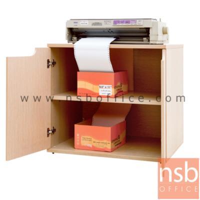 ตู้วางปริ้นเตอร์บานทึบ  80W cm. เจาะช่องสำหรับสอดกระดาษ:<p>ขนาด 80W*45D*75H cm. ไม้ปาร์ติเกิ้ลเคลือบผิวเมลามีน ท็อปไม้หนา 25 มม. ช่องกระดาษ<span>ออกแบบเพื่องานพิมพ์เอกสารประเภทกระดาษต่อเนื่อง</span></p>