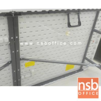 โต๊ะพับกระเป๋าหน้าพลาสติก แบบพับครึ่ง PL-PPE-T ขนาด 150W, 180W cm. ขาอีพ็อกซี่เกล็ดเงิน:<p>ผลิต 2 ขนาดคือ 150W*75D cm และ 180W*75D (*74H) cm. โต๊ะพับกระเป๋าแบบพับครึ่งกลาง / แผ่น TOPผลิตจากพลาสติกเกรดA&nbsp;&nbsp;ทำให้รับได้หนักได้มาก / ขาอีฟ็อกซี่เกล็ดเงิน ทำจากแป๊ปเหลี่ยมขนาด 1 &frac14; lnch. สามารถปรับระดับได้ตามความเหมาะสมของพื้นที่</p>