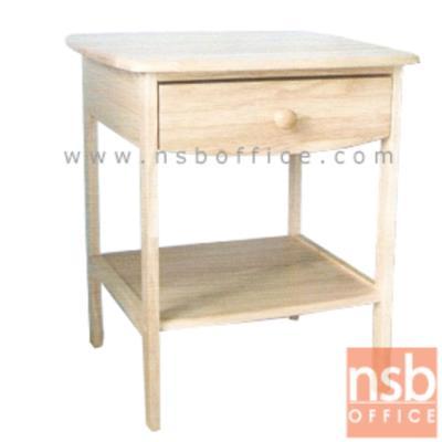 โต๊ะข้างเตียง ไม้ยางพารา ทรงเหลี่ยมมุมบน สีบีช (มีสต๊อก 4ใบ):<p><strong>ขนาด </strong><strong>47W*47D*56H</strong></p>
