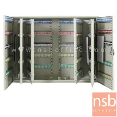 ตู้เก็บกุญแจ 600 ดอก พร้อมพวงกุญแจระบุหมายเลข  ระบบกุญแจล็อค รุ่น  B600-AS:<p>ขนาด 73W*20.5D*55H cm.&nbsp; ที่แขวงกุญแจสามารถปรับระดับได้ น้ำหนักประมาณ 27 กก. สีครีม</p>
