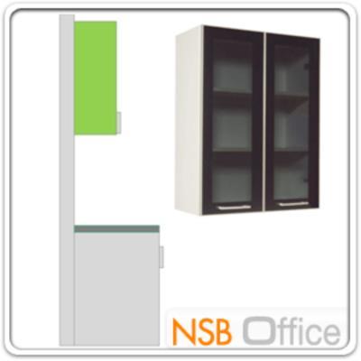 ตู้แขวน บนบานเปิดกระจก 80H cm  :<p>มี 2 ขนาดคือ 60W*30D และ 80W*30D สูง 80H cm. ภายในมี21 แผ่นชั้น (3 ช่อง) /แผ่น TOP คุณภาพพิเศษ EUROPEAN STANDARD EN 321 ทนต่อทุกสภาพอากาศ /ปิดผิวด้วยเมลามีน(MELAMINE) ชนิดพิเศษทนความร้อนได้สูง ทนต่อรอยขีดข่วน และกรด ด่าง /บานพับปิดนุ่มนวล ด้วยระบบ SOFT CLOSE SYSTEM HINGE นำเข้าจากต่างประเทศ</p>