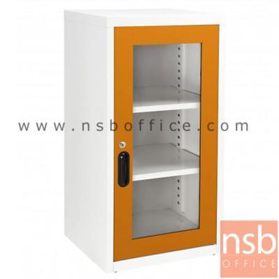 ตู้บานเปิดกระจก 2 แผ่นชั้น 44W*40D*88H cm:<p>44W*40.7D*88H cm./ Keylock /ผลิต 8 สีคือ สีขาวมุก, สีดำ, สีแดง, สีม่วง, สีส้ม, สีฟ้า, สีเขียว และสีเทาฟ้า</p>