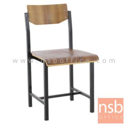 เก้าอี้นักเรียนไม้ โครงเหล็ก:<p>เก้าอี้นักเรียนไม้ โครงเหล็กพ่นดำ ที่นั่งเป็นแผ่นไม้ทั้งแผ่น ขอบหน้าโค้ง</p>