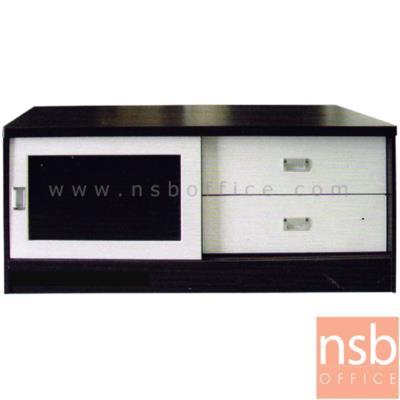 ตู้ไซด์บอร์ดอเนกประสงค์บานเลื่อนกระจก มี 2 ลิ้นชัก รุ่น TV-OLIVER-1 ขนาด  120W cm.:<p>ขนาด 120W*50D*55.5H cm. ผลิตจากไม้ปาร์ติเกิลบอร์ด TOP ปิดผิวพีวีซี /มี 1 บานลื่อนกระจก และ 2 ลิ้นชัก มี 2 สีให้เลือกคือ สีโอ๊ค และสีเมเปิ้ล</p>