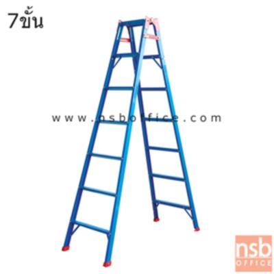 บันไดอลูมิเนียม 2 ทาง ปรับพาดตรงได้ SANKI รุ่น LD-TK  (4-8 ขั้น เคลือบสีน้ำเงิน):<p>มี 5 ขนาดคือ 4 ขั้น (1.16 ม./2.48 ม.), 5 ขั้น (1.48 ม./3.01 ม.), 6 ขั้น (1.73 ม./3.61 ม.), 7 ขั้น (2.04 ม./4.02 ม.) และ 8 ขั้น (2.34 ม./4.83 ม.) / ** ตัวเลขข้างต้นแสดง H ปกติ / H. (STRETCH)</p>