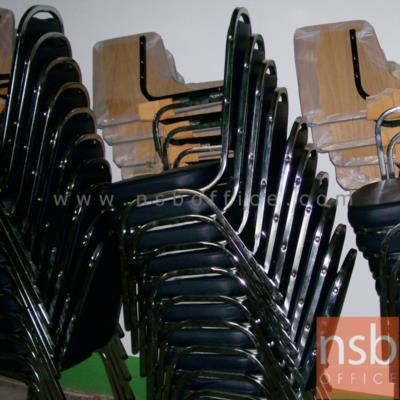 """เก้าอี้เลคเชอร์ ที่นั่งเบาะ หน้าโฟเมก้าน รุ่น CL-400 ขาเหล็ก (ซ้อนเก็บได้):<p><span>ขนาด&nbsp;</span><span id=""""ctl00_ContentCenter_lstProducts_ctrl0_pnlWidth"""">50<span>W*</span>&nbsp;</span><span id=""""ctl00_ContentCenter_lstProducts_ctrl0_pnlDepth"""">70<span>D*</span>&nbsp;</span><span id=""""ctl00_ContentCenter_lstProducts_ctrl0_pnlHeight"""">86<span>H</span>&nbsp;</span><span>cm.&nbsp;</span>ผลิต 2 รุ่นคือ ขาพ่นดำ และขาชุบโครเมี่ยม / ที่นั่งเบาะหนา ระบุสีได้ / แผ่นเลคเชอร์บุโฟเมก้าสีขาว ปิดขอบด้วย PVC สีดำ</p>"""