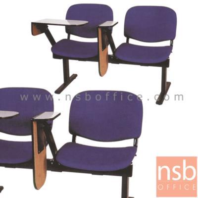 เก้าอี้เลคเชอร์แถวหุ้มเบาะใหญ่ พับไขว้ 2 , 3 , และ 4 ที่นั่ง รุ่น D660 ขาเหล็กพ่นดำ:<p>มี 3 ขนาดคือ 2, 3 และ 4 ที่นั่ง / ที่นั่งและพนักพิงหุ้มเบาะใหญ่ มีหลายสี นั่งสบาย / แผ่นเขียนพับไขว้ เข้าออกสะดวก โครงขาเหล็กพ่นสีดำ</p>