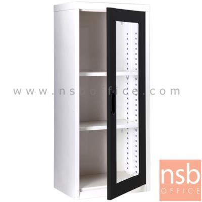 ตู้เอกสาร 1 บานเปิดกระจกสูง 105 ซม. รุ่น MAX-022 :<p>ขนาด ก46.6*ล30*ส105 ซม./ภายในมี 2 แผ่นชั้นสามารถปรับระดับได้ ซึ่งสามารถรับน้ำหนักได้ชั้นละ 50 กก.</p>