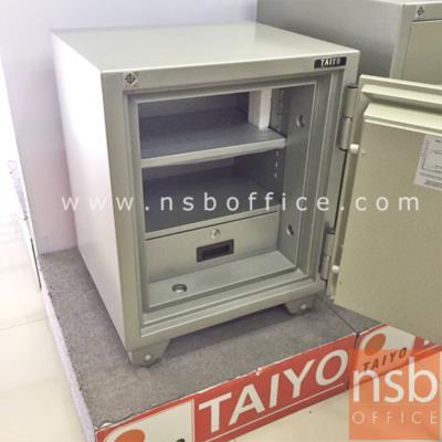 TAIYO 110 กก. 1 กุญแจ 1 รหัส (TS 675 K1C มอก):<p>TAIYO TS675K1C / ตั้งรหัสใหม่เองได้ / มาตรฐาน ม.อ.ก. / ภายนอก 530(W)*470(D)*675(H) mm ภายใน 390(W)*274(D)*460(H) mm/เปลี่ยนรหัสได้ สามารถกันไฟได้นาน 2 ชั่วโมง (เจาะช่องบริจาคใช้รหัส F01A051)</p> <p>&nbsp;</p>