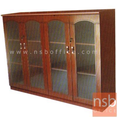 ตู้เก็บเอกสารไม้ 4 บานเปิดกระจก 160W cm. รุ่น SPONSOR-1 :<p>ขนาด 160W*43D*120H cm. โครงสร้างผลิตจากไม้เนื้อแข็ง ผสมไม้ MDF (HARDWOOD + MDF) ปิดผิวเรซิ่น มี 4 บานเปิดกระจก ภายในมี 2 แผ่นชั้น(3 ช่อง) หน้าบานมีกุญแจล็อค ผลิตสีสักเข้ม</p>