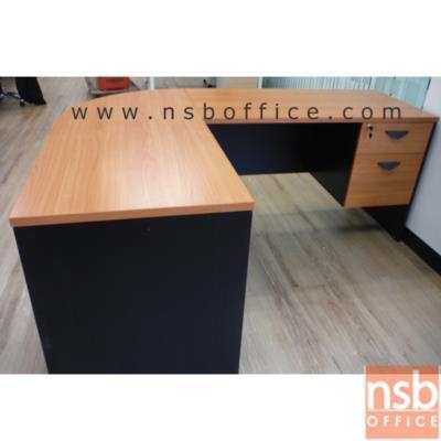 โต๊ะทำงานตัวแอล รุ่น VENUS ขนาด 180W1*140W2 cm. เมลามีน (ตัวมุมมีแผ่นชั้นกลาง):<p>3 ชิ้น ประกอบด้วย โต๊ะทำงาน 2 ลิ้นชัก 120W*60D*75H cm / ชั้นเข้ามุมโค้ง R60*H75 cm / และโต๊ะคอมพิวเตอร์ 80W*60D*75H cm / ผิวเมลามีน ทนร้อน ทนชื้น / ใช้พื้นที่รวม 180W*140D*75H cm&nbsp;</p>