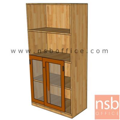 ตู้เอกสารบนโล่ง ล่างบานเลื่อนกระจกสูง  160H cm. ผิวเมลามีน:<p>ขนาด 80W*40D*160H cm. และ 90W*40D*160H cm. / ปิดผิวเมลามีน กันชื้น กันร้อน&nbsp;</p>