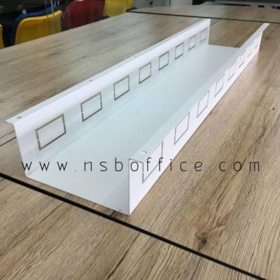 ชุดรางไฟแบบกว้างพิเศษ 20 cm   (สำหรับวาง adapter ของ laptop):<p>กว้างพิเศษ 20 cm เหมาะสำหรับโต๊ะทำงานกลุ่ม หรือโต๊ะประชุม ที่ใช้งานแต่ laptop และไม่อยากให้ adapter พร้อมสายไฟ วางขดอยู่บนโต๊ะ ต้องการให้วางลงกล่องเพื่อให้หน้าโต๊ะโล่งขึ้น</p>