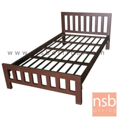เตียงเหล็กเหลี่ยม หัวระแนงแนวตั้ง    3.5, 5 และ 6 ฟุต (รับประกันสินค้า 5 ปี)