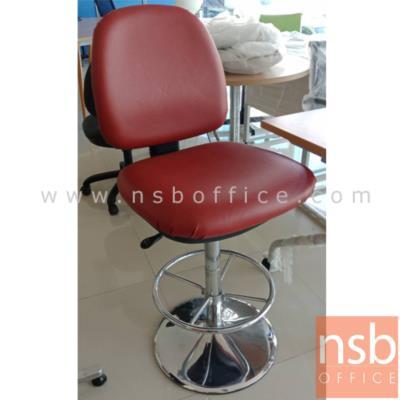 เก้าอี้บาร์ที่นั่งเหลี่ยม รุ่น 017-NIL  ขาเหล็กชุบโครเมี่ยม