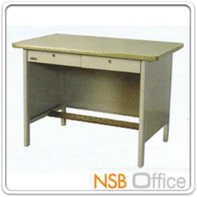 โต๊ะทำงานเหล็ก 2 ลิ้นชัก:<p>ความกว้าง 5 ขนาด 3, 3.5, 4, 4.5 และ 5 ฟุต / พร้อมกระจก&nbsp;</p>