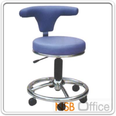 เก้าอี้คุณหมอ สูง 78 ซม. มีพักเท้า TK-120 ปรับโช๊คแก๊ส ขาล้อ 5 แฉก:<p>ขนาดเบาะ Di39 (เส้นผ่านศูนย์กลางที่นั่ง) * 49D (ความลึกเก้าอี้รวมพนักพิง) * H78 (ความสูงที่นั่ง 50 cm) cm / ขนาดวงล้อมีที่พักเท้า Di48 cm</p>
